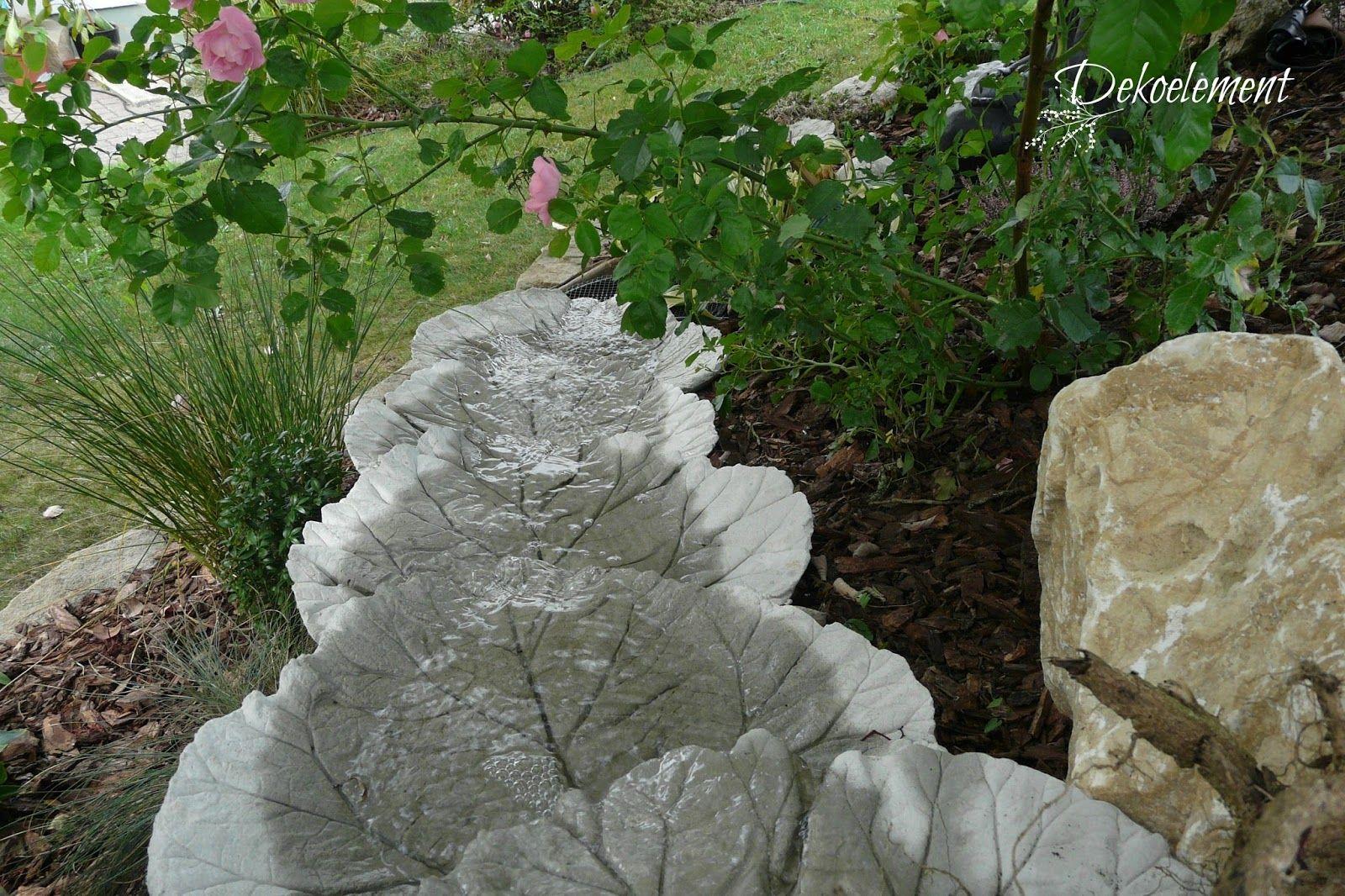 Betonblätter, Bachlauf Garten, Bachlauf selber bauen, Bachlauf ...