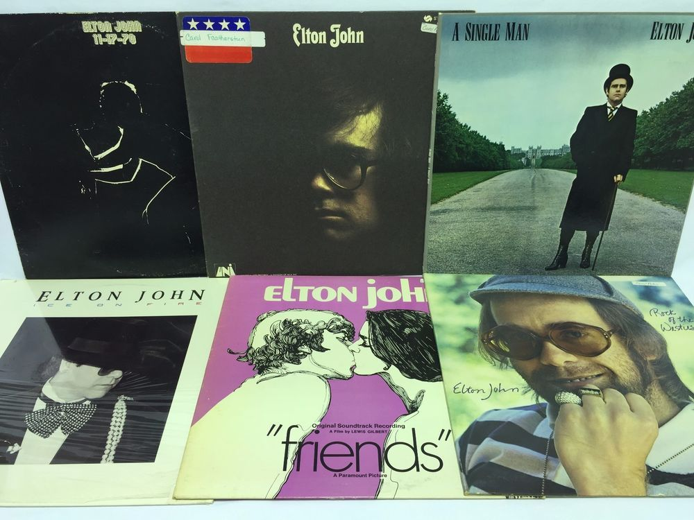 Elton John Lp Vinyl Record Lot S T Rock Of The Westies Friends 11 17 70 Elton John Vinyl Records Lp Vinyl