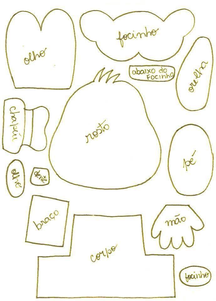 goofy molde | moldes de fieltro | Pinterest | Fieltro, Moldes y Muñecas