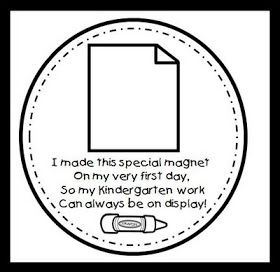 Magnet craft for first day. All grade levels available