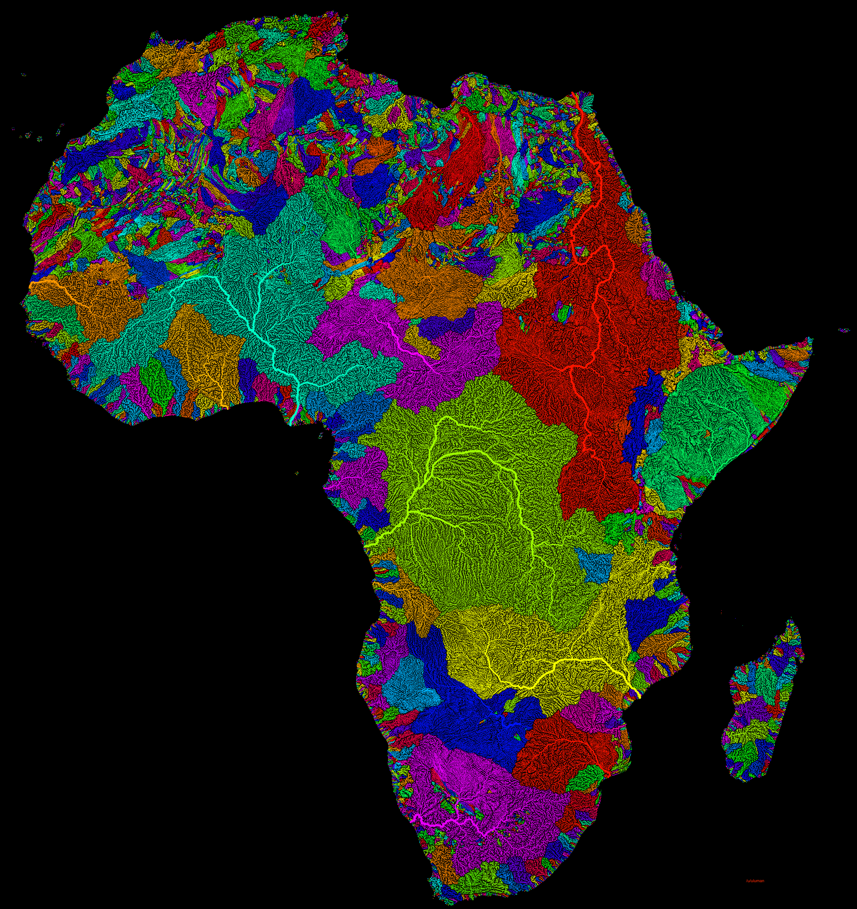 Africa Watersheds River Basins With Images River Basin