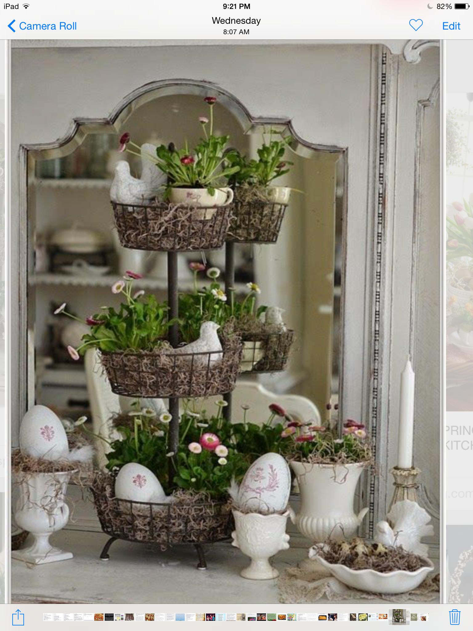 Pin by terrye smith on easter spring pinterest - Fensterbrett dekorieren ...
