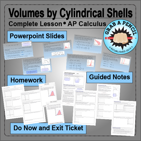 Ap calculus volumes by cylindrical shells complete lesson ap ap calculus volumes by cylindrical shells complete lesson publicscrutiny Choice Image