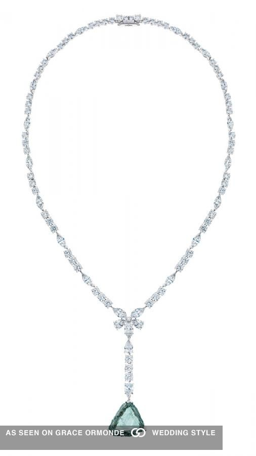 8d0b6f1695e2c De Beers Awakening Lotus Necklace Featuring 18.79ct Bluish Green ...