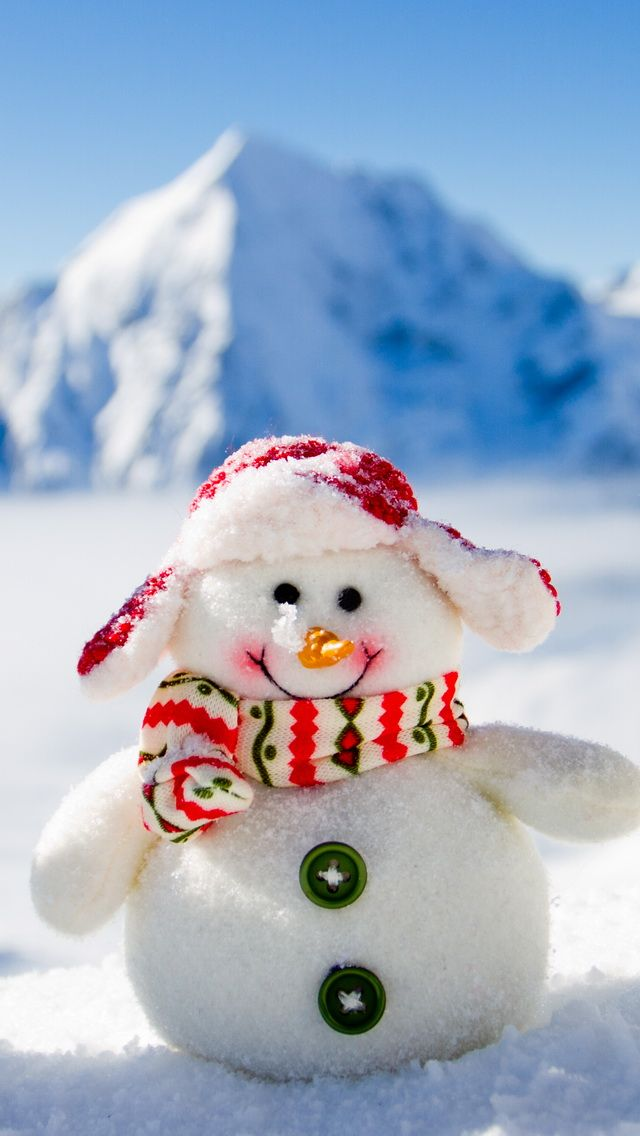 Tap Image For More Christmas Wallpapers Snowman Iphone