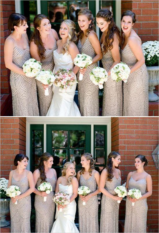 4314eb79fed beaded bridesmaids dresses  elegantwedding  bridalparty  weddingchicks  http   www.weddingchicks