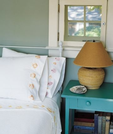 Print on Fabric with Real Shell Stamps -For Pillows, Sheets