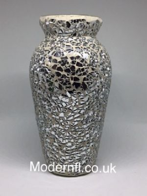 Silver mirrored mosaic decorative vase, mirrored mosaic le ... on mosaic memorial stones, mosaic plates, mosaic glass, mosaic shelf, mosaic water fountains, mosaic art, mosaic seat cushions, mosaic baskets, mosaic stepping stones, mosaic trays, mosaic tins, mosaic clay pots, mosaic bowls, mosaic tissue holder, mosaic tables, mosaic canisters, mosaic animals, mosaic ashtray, mosaic decanter, mosaic ideas,