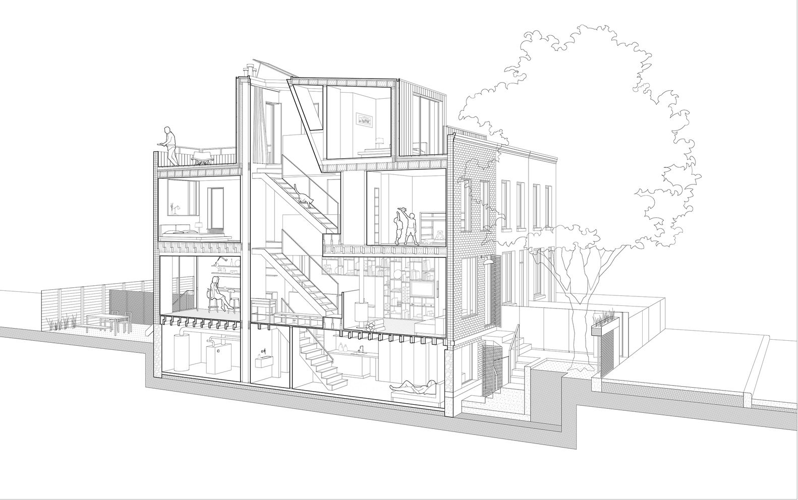 Galería de Pequeña Casa. Gran Ciudad / Office of Architecture - 34 ...