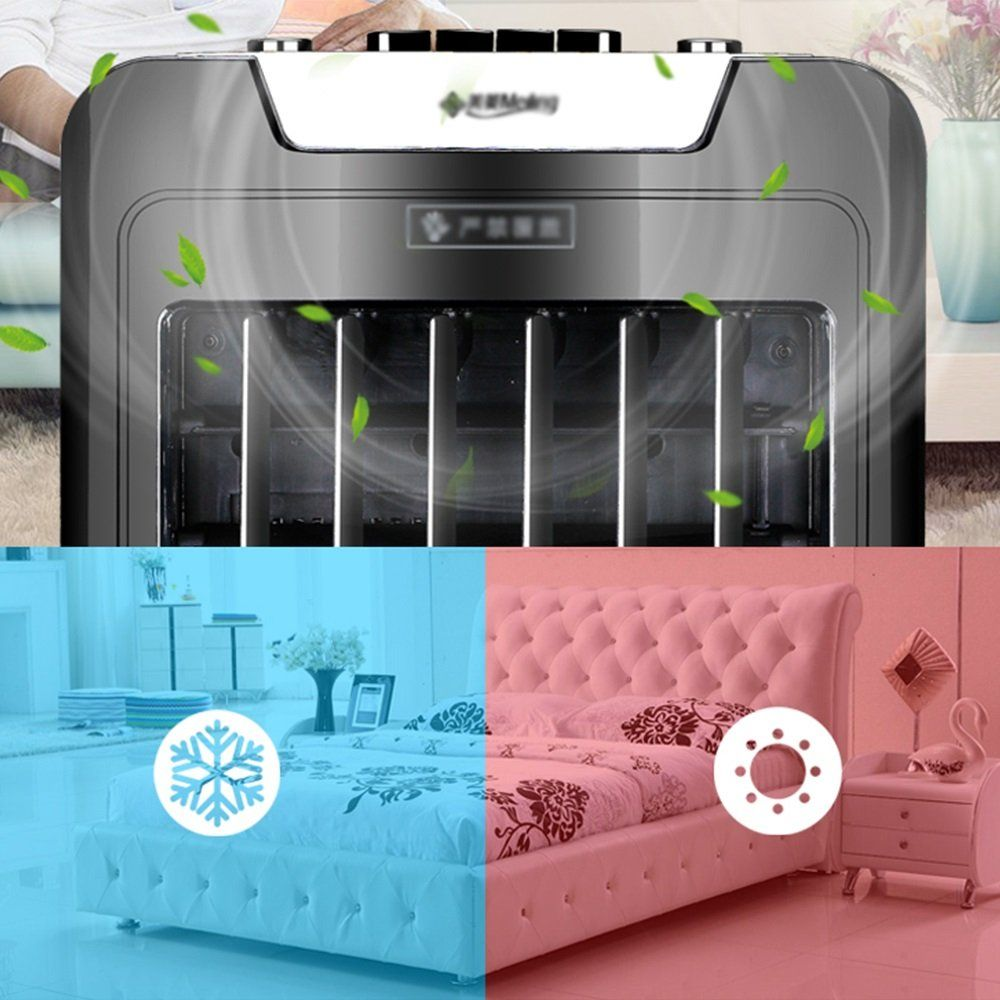 Ydfan Black Three Block Wind Speed Cooling And Heating Dualuse
