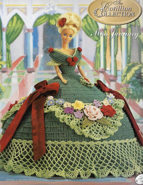 Original Annie\'s Attic Cotillion Collection Gown, Miss January, 1992 ...