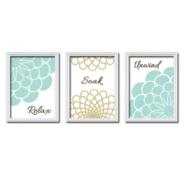Bathroom Decor Seafoam Wall Art Canvas Or Prints