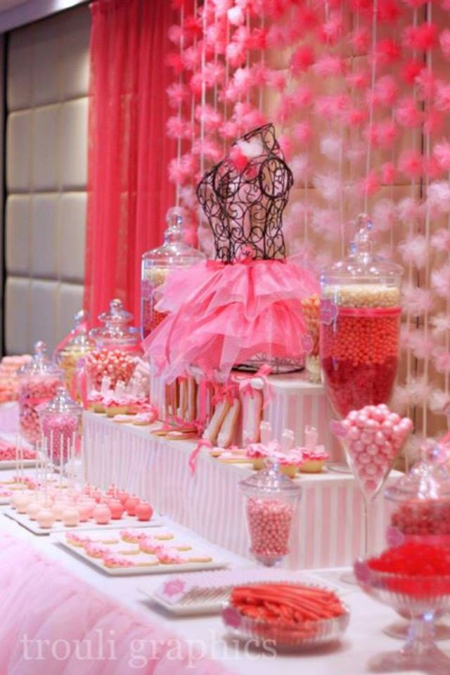 Brilliant Ballerina Theme Candy Buffet By Trouli Graphics Cool Party Interior Design Ideas Clesiryabchikinfo
