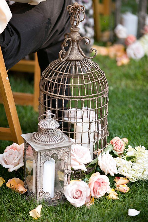 Lantern  Birdcage Aisle Decor   Real San Diego Wedding Planner Swann Soirees   Sean Walker Photography