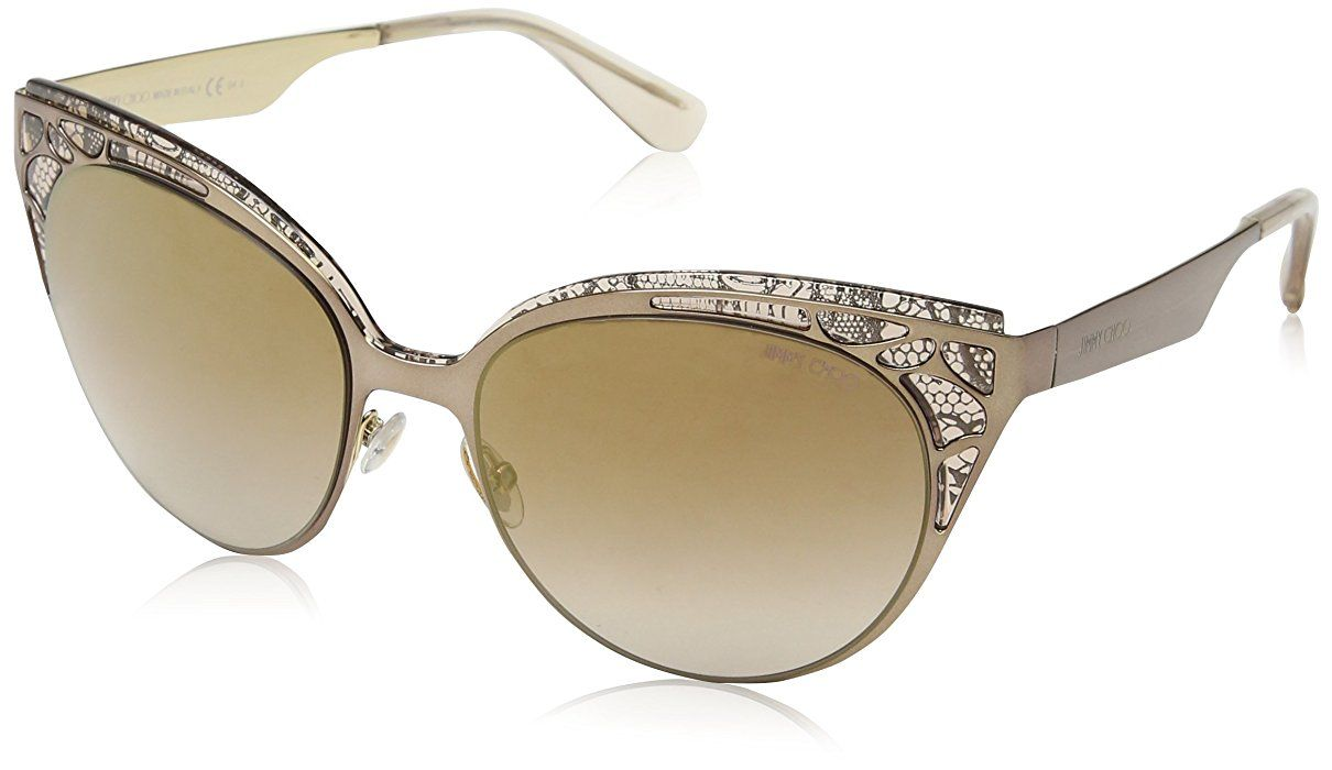 90607bd4ebce4 Jimmy Choo Sunglasses Shiny Light Brown Lens  Brown Mirror Gold Gradient