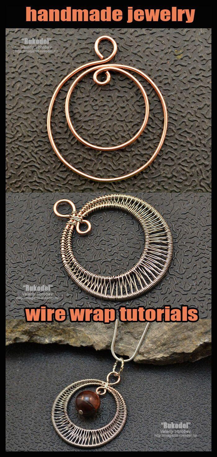 Photo of Handmade jewelry. Wire wrap tutorial. Pendant.