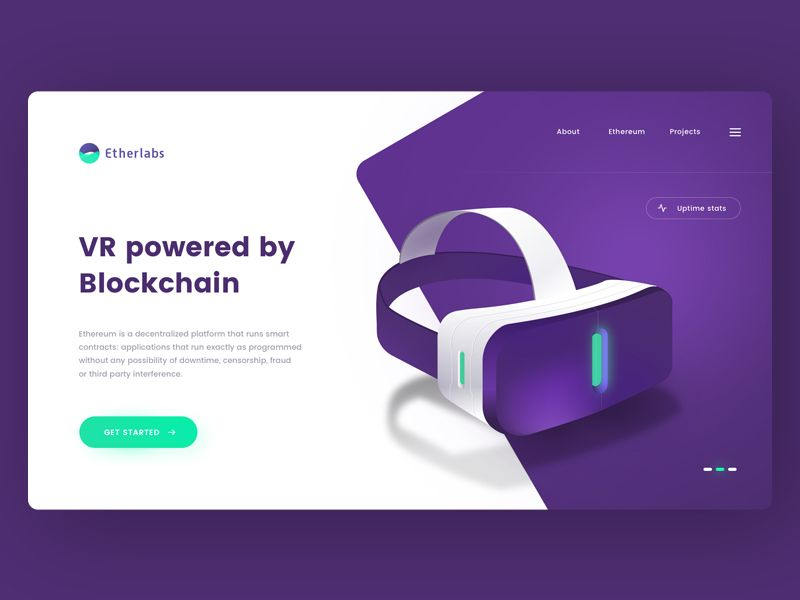 Blockchain Powered Vr Web Design Examples Web Design Tips Creative Web Design