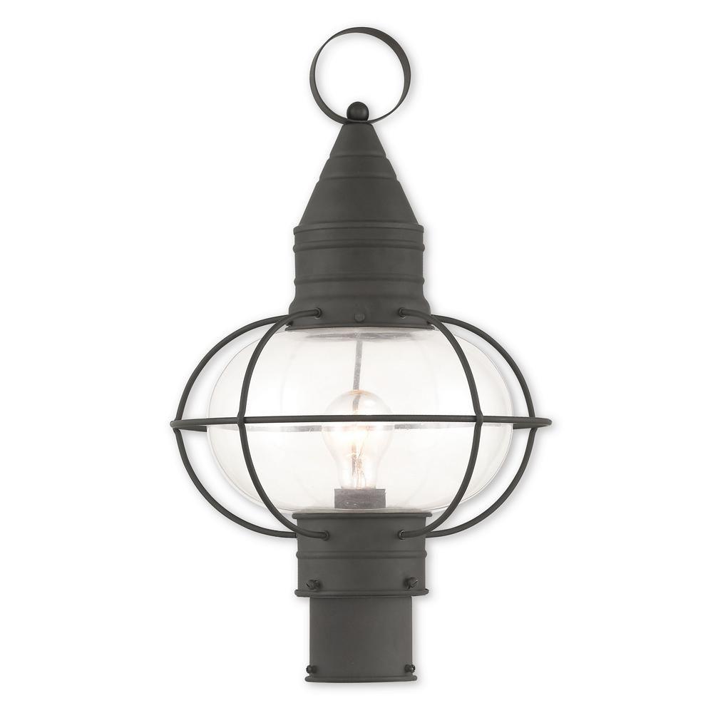 Livex Lighting Newburyport 1 Light Outdoor Black Post Light Products Outdoor Post Lights Lantern Post Lamp Post Lights