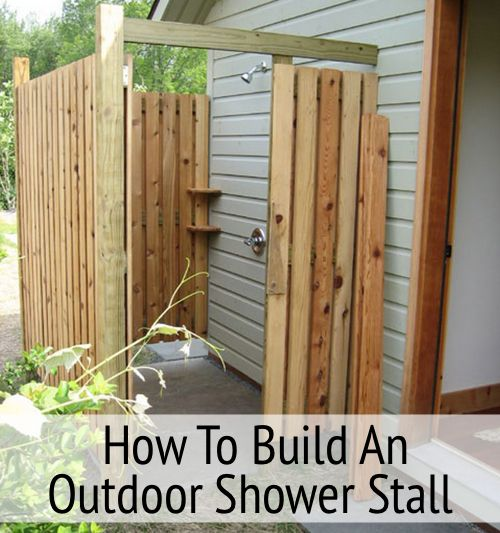 how to build an outdoor shower homesteads