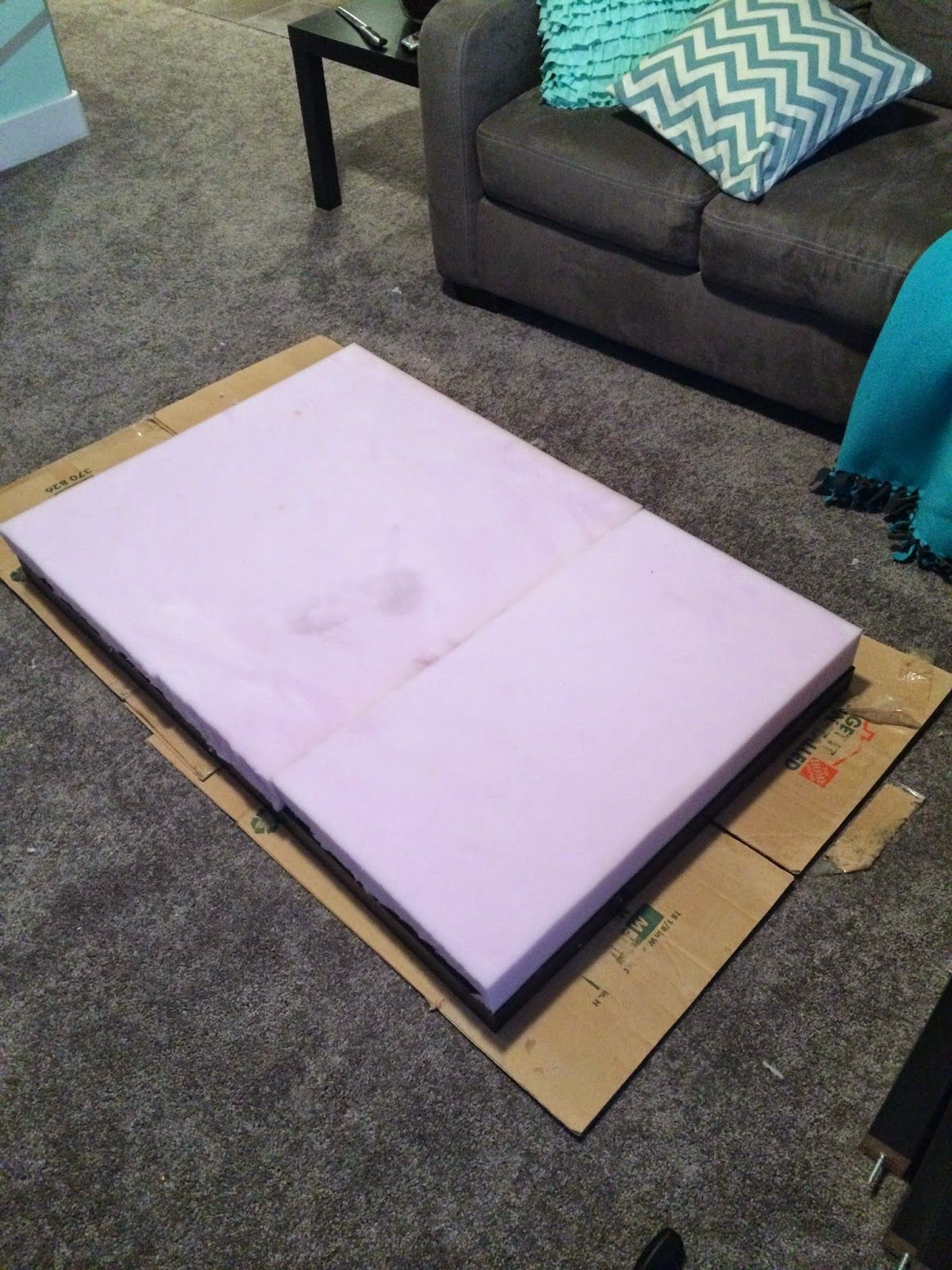Home With Carissa Ikea Lack To Tufted Ottoman Hack Tufted Ottoman Ikea Lack Farmhouse Style Coffee Table [ 1600 x 1200 Pixel ]