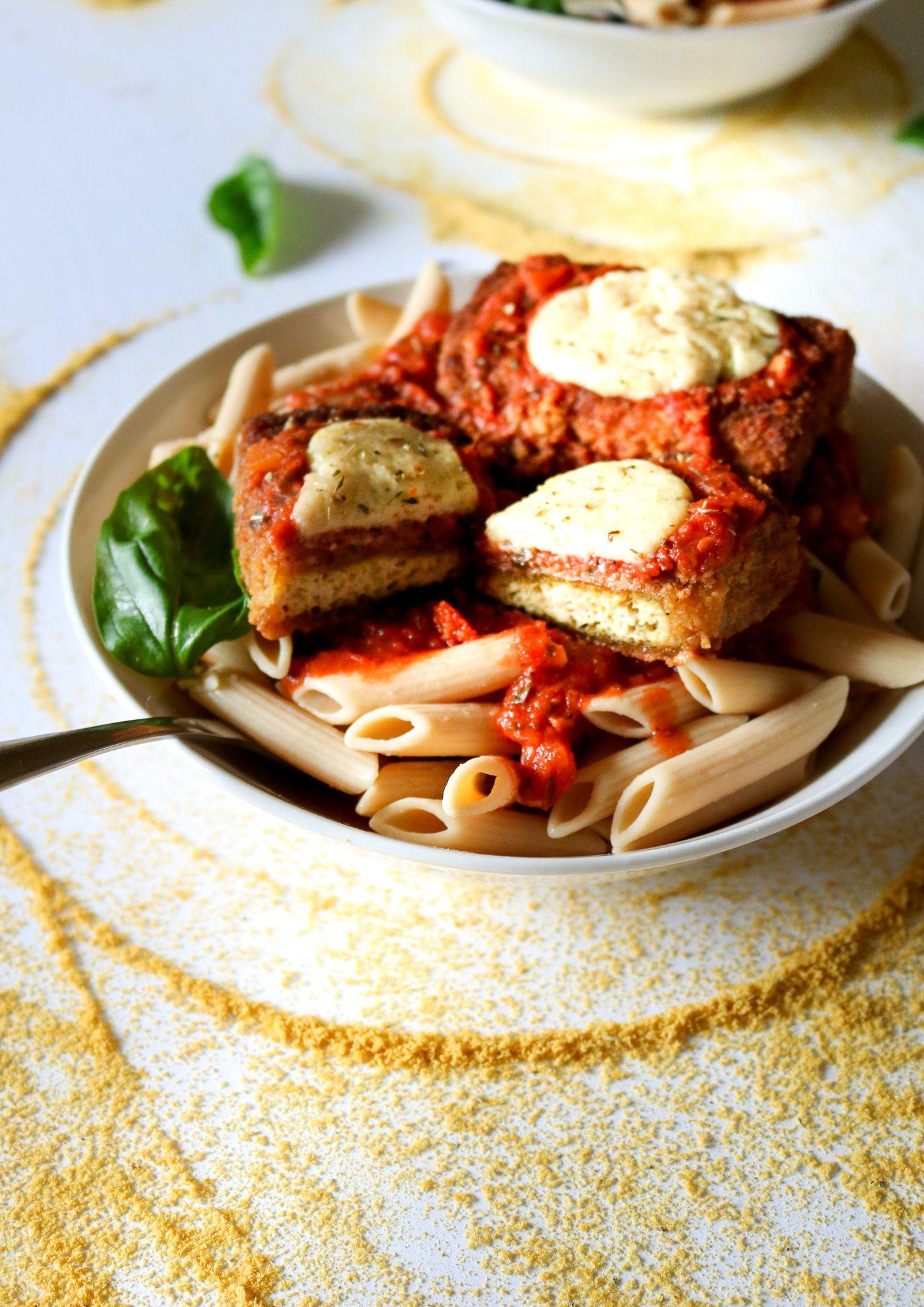 Restaurant Style Vegan Chicken Parmesan