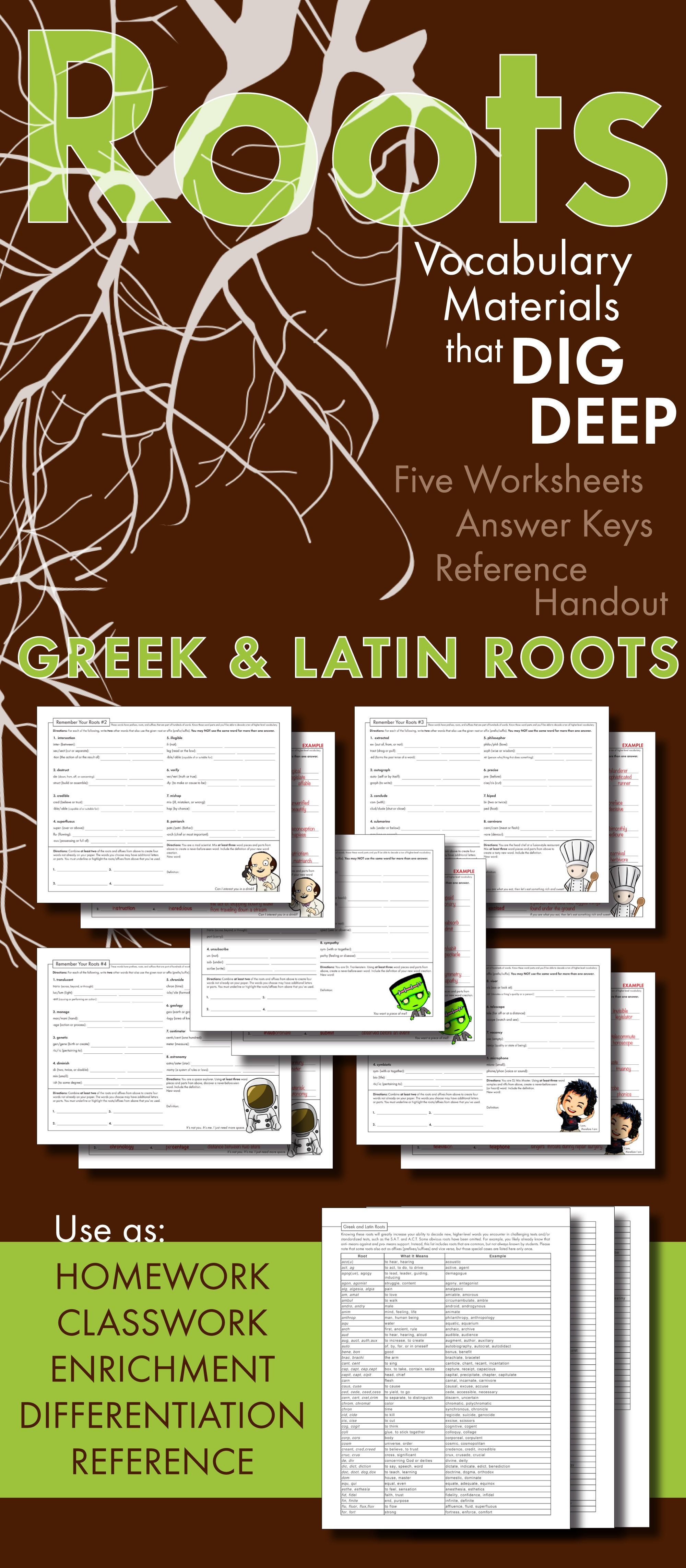 Greek Amp Latin Roots Worksheets For High School Prefix