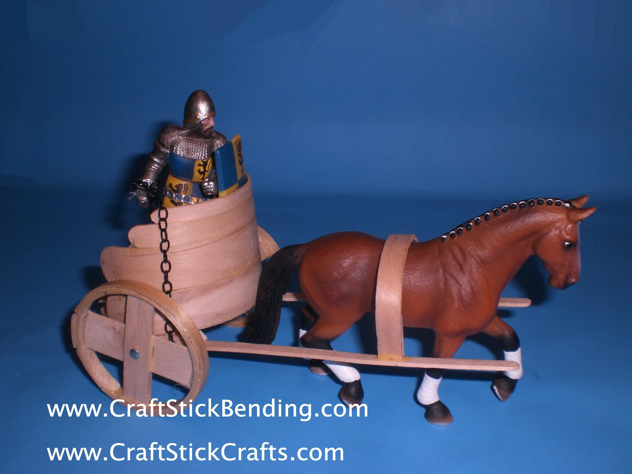 craft stick crafts chariot note the wheels are made from starbucks