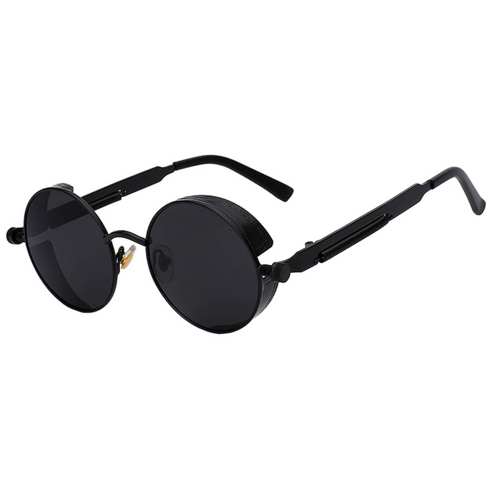 Black Sunglasses Women Shades Sunglassesvintage Sunglassescase Summertimefun Womenover40 Steampunk Sunglasses Circle Sunglasses Vintage Sunglasses Retro