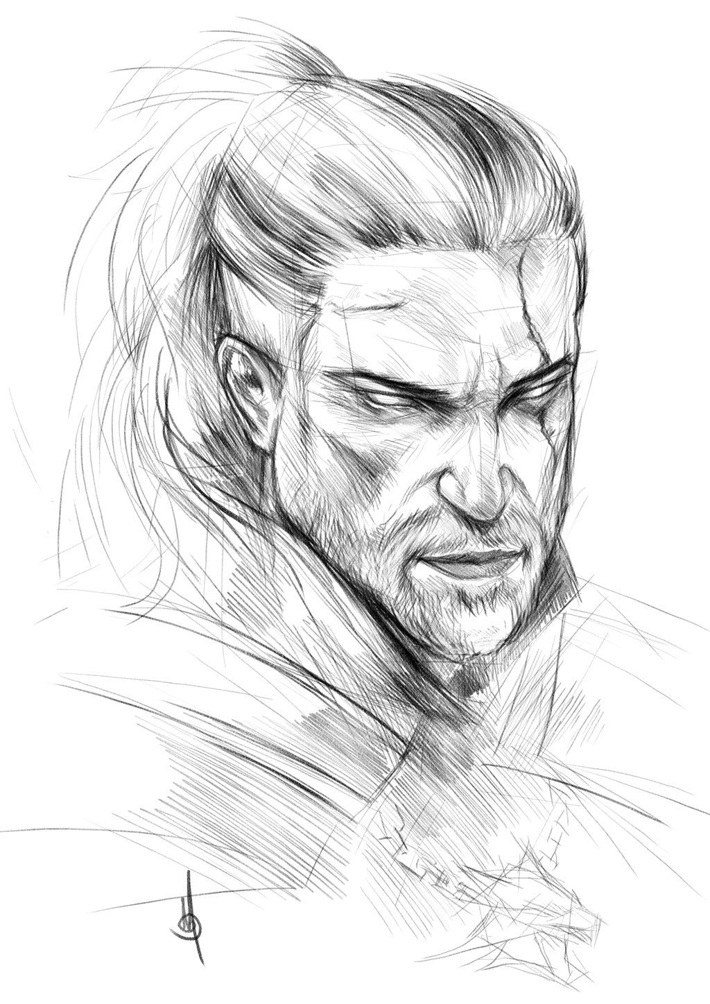 Geralt Of Rivia By Muratgul On Deviantart Com Imagens Witcher