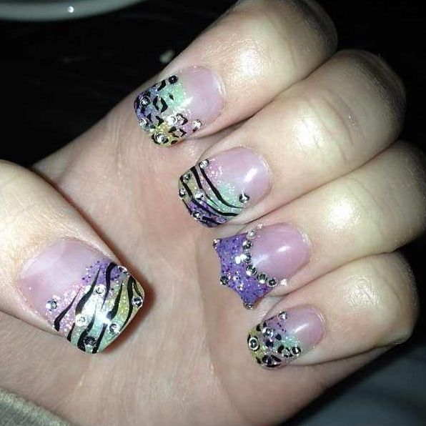 I Like This Besides The Crown Shaped Accent Nail Would Do It A Little Diffely