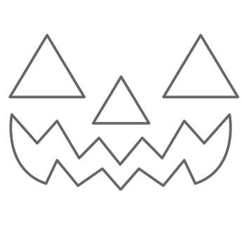 pumpkin carving stencils jack o lantern  Traditional Jack-O-Lantern   Halloween stencils, Pumpkin ...