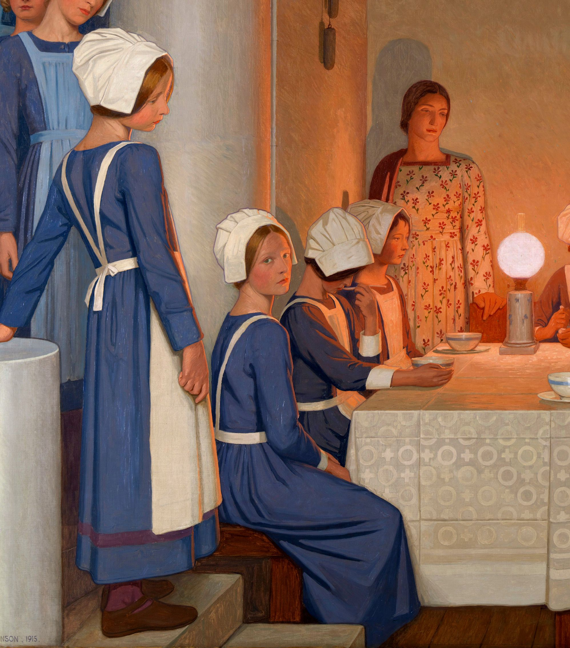 """— Fine Art Print Frederick Cayley Robinson: /""""Acts of Mercy 1915 Orphans II/"""""""