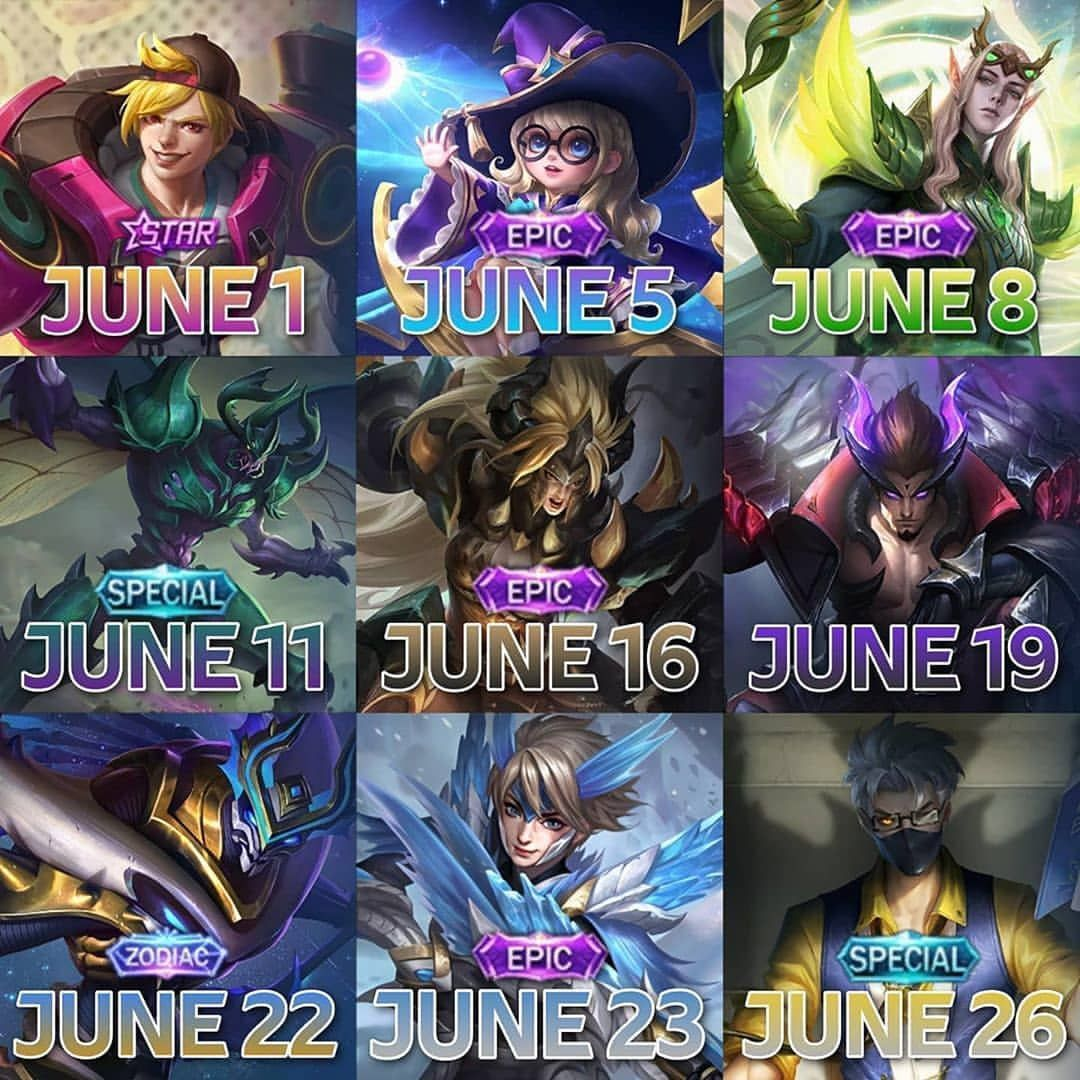 Release Time Data Of New Skins And Hero Yuzhong