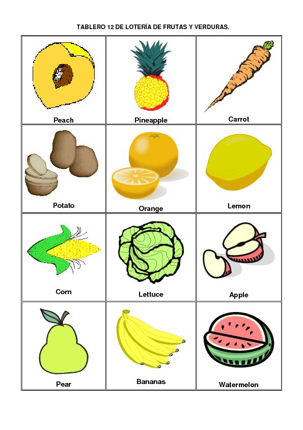 10 tipos de frutas en ingles y español