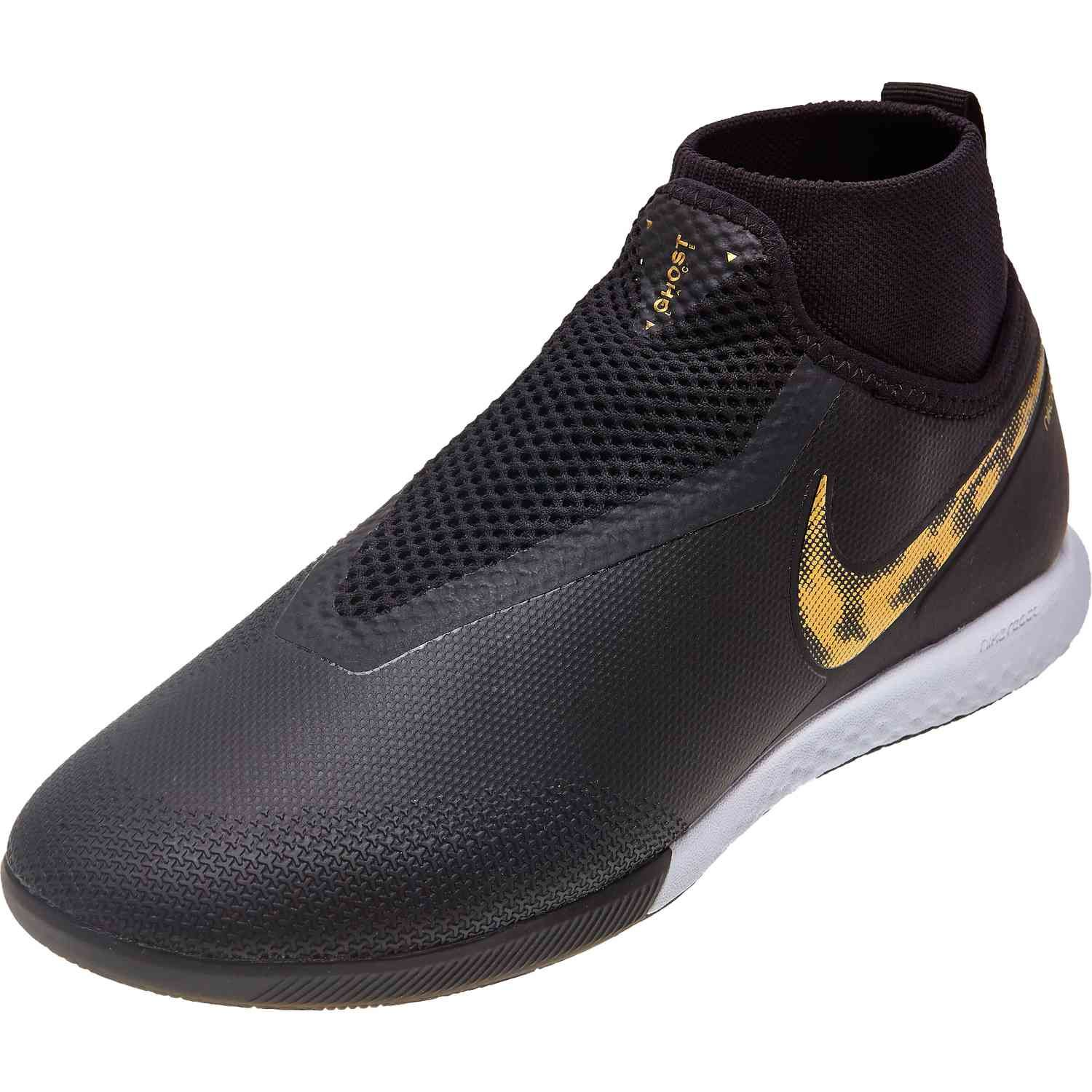 3c5f2ae14c02c Buy the Black Lux pack Nike Phantom Vision Pro indoor soccer shoes from  SoccerPro right now.