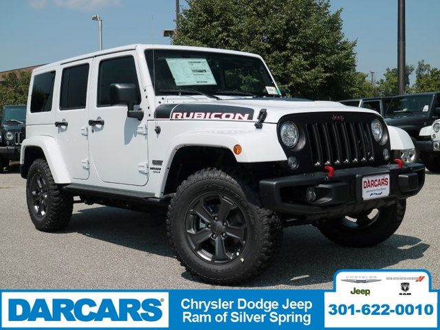 New 2017 Jeep Wrangler Unlimited Rubicon 4x4 SUV In Silver Spring