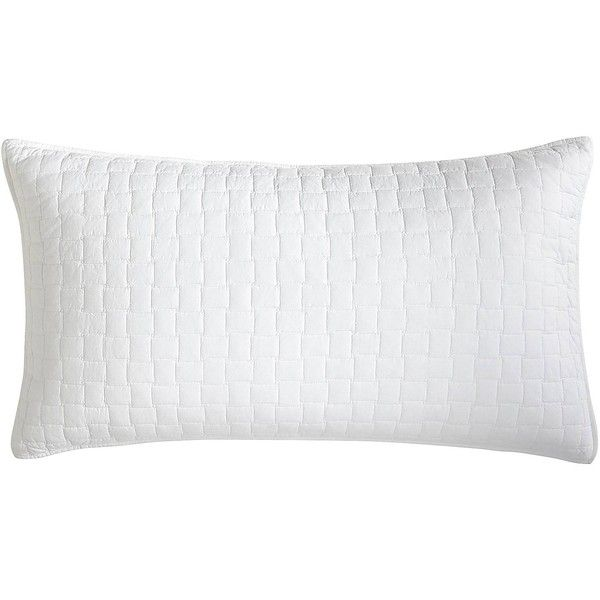 Pier 1 Imports Weston White King Pillow Sham 30 Liked On