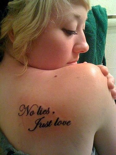 "First tattoo, ""No lies,... #TATTS  #TATTOOS"