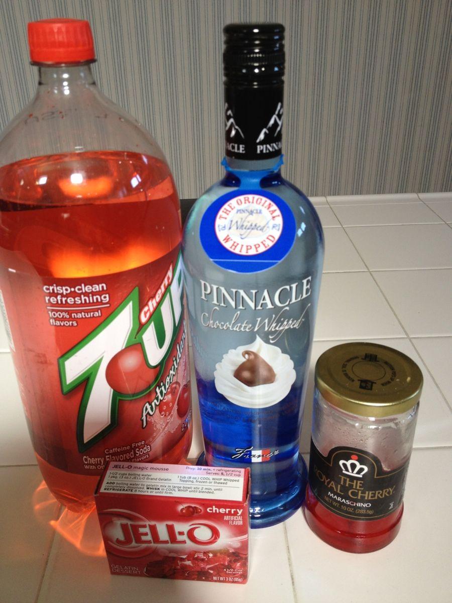 Chocolate Cherry Jello Shots Cherry Jello Shots Jello Shots Chocolate Vodka