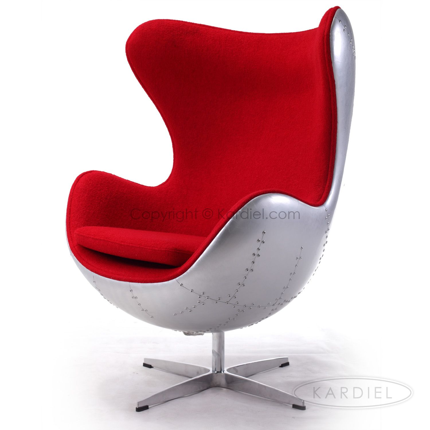 Egg Chair Aanbieding.Steampunk 1958 Egg Chair Cherry Red Boucle Cashmere Wool Kardiel