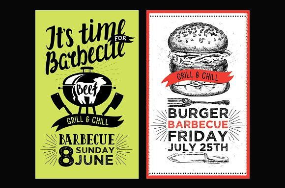 Bbq invitations, barbecue party Brochure template, Brochures and - party brochure template