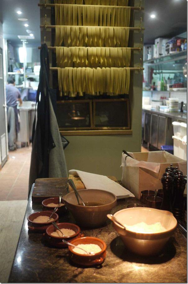 Fresh pasta and cheeses at Sydney's A Tavola at Bondi Beach