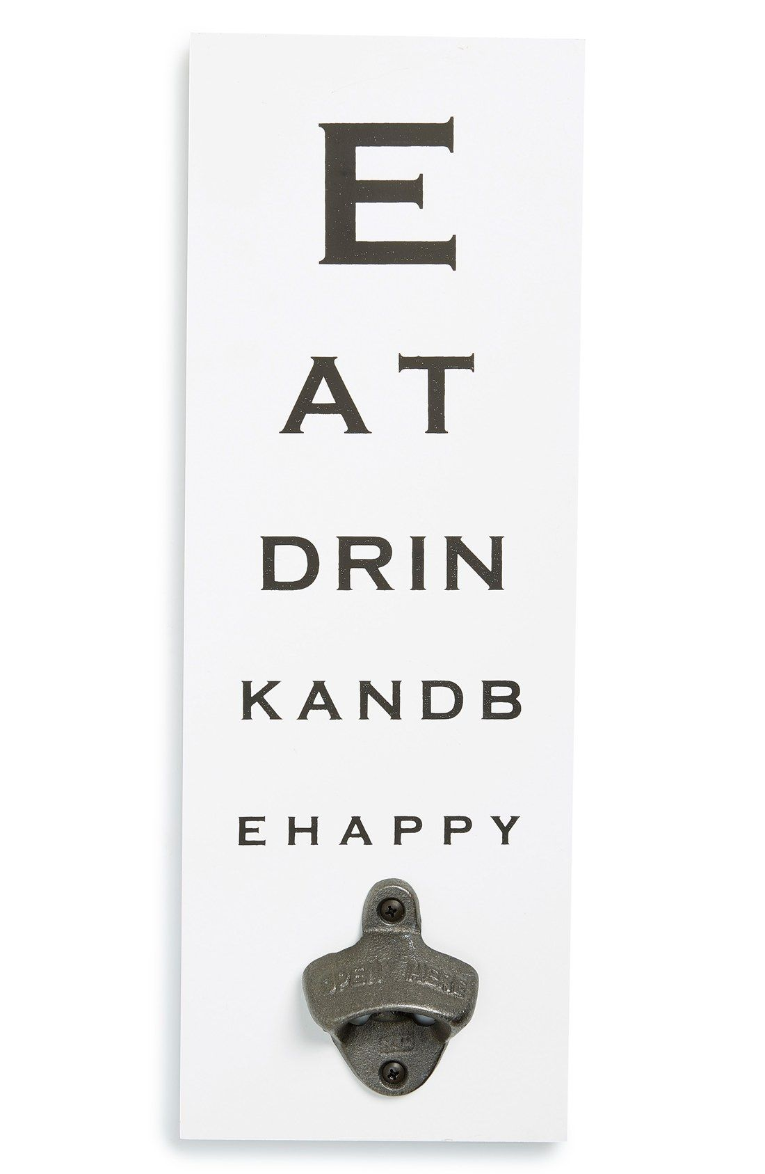 Melannco eat drink and be happy eye chart wall bottle opener melannco eat drink and be happy eye chart wall bottle opener nvjuhfo Image collections