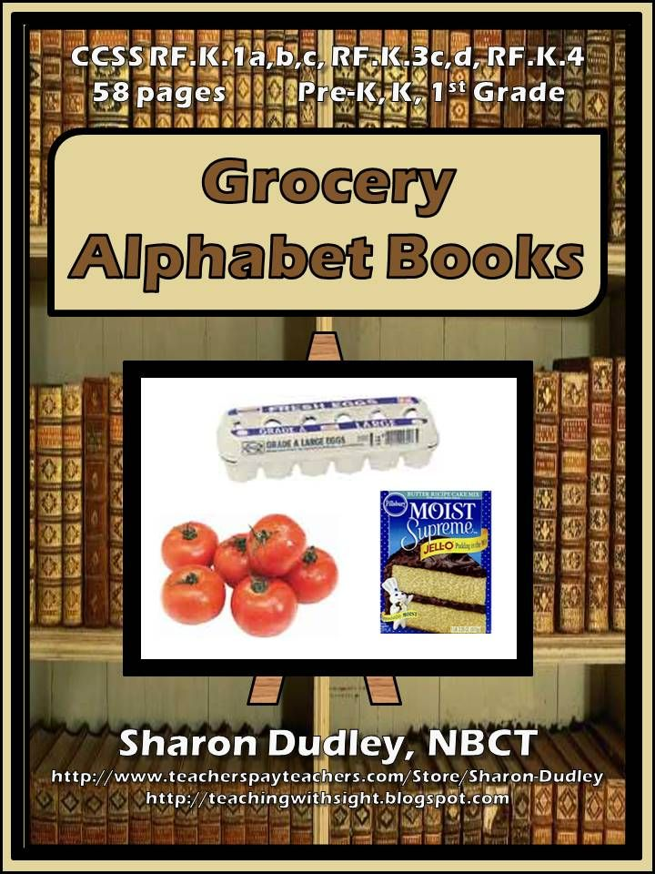 Grocery Alphabet Books Alphabet book, Group activities and - grocery words