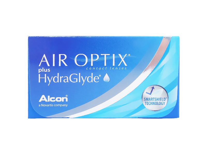 Air optix hydraglyde Disposable contact lenses, Monthly