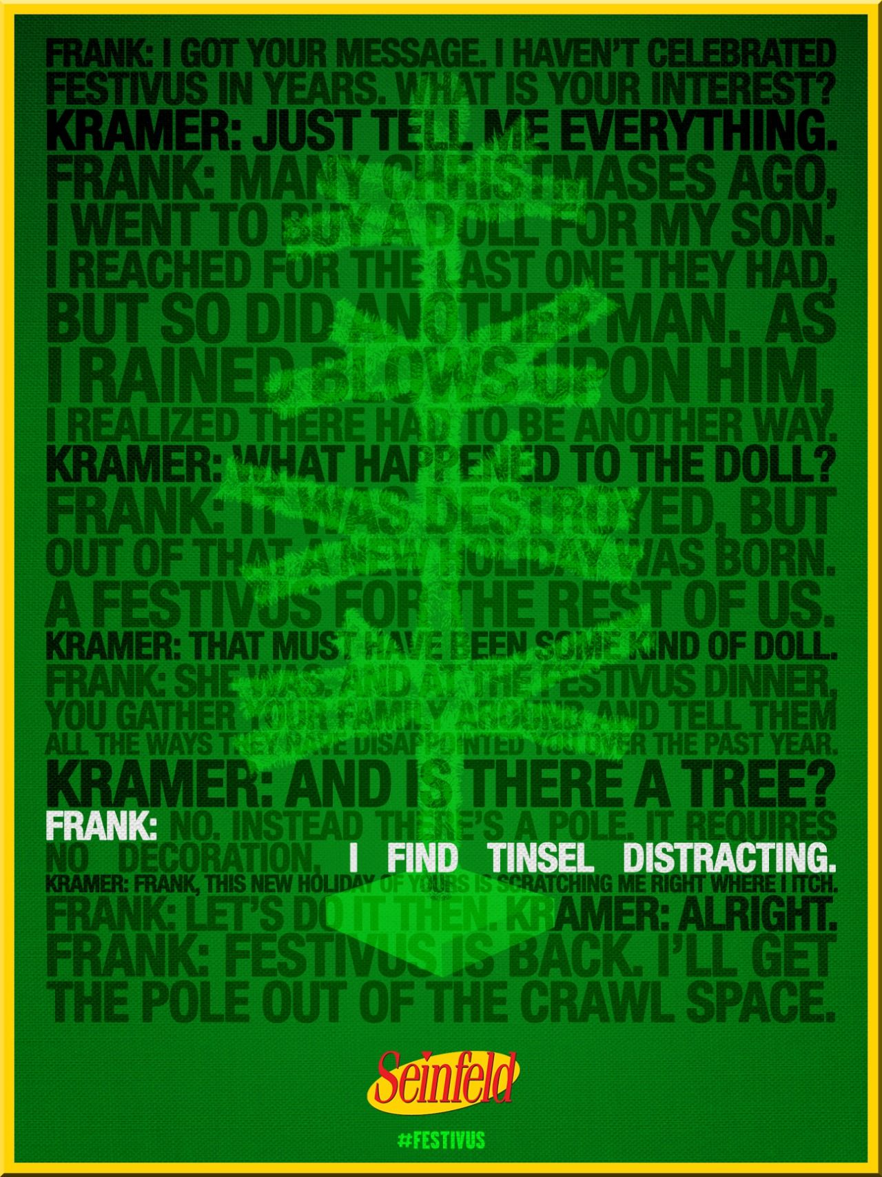 Seinfeld quote - Frank Costanza & Kramer discuss Festivus, 'The Strike'