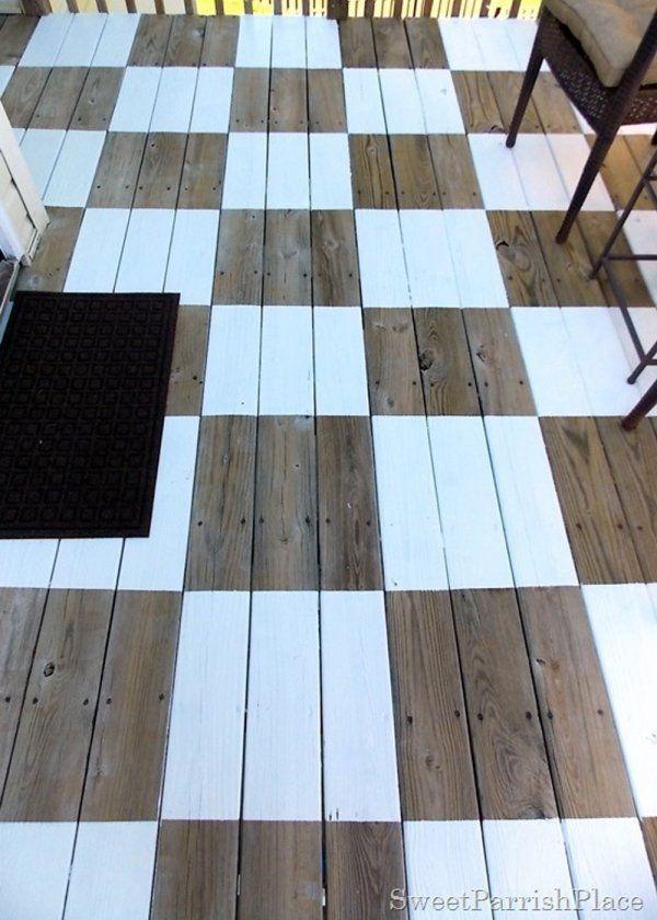 Parquet peint  toutes nos inspirations pour peindre un parquet - peindre le carrelage sol