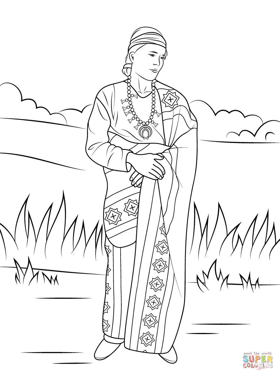 Navajo code talkers coloring page for Navajo coloring pages