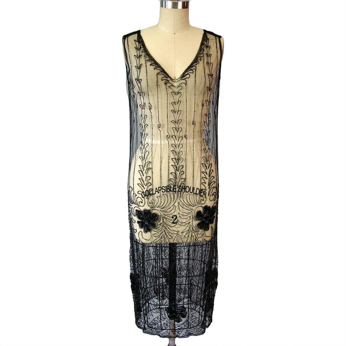 Fab.com | '20s Silk Net Beaded Dress