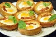 Bacon & Egg Bread Bowls